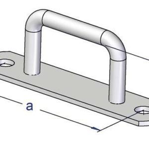 Prowadnica plandekowa prostokątna 20/51 wymiary mm: h/a 20/51, stal ocynkowana