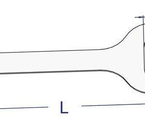 Zapinka do oczek owalnych 42 x 22  PVC