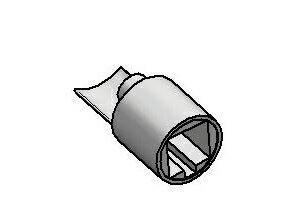 Adaptor dolny na rurę fi 34 kwadrat  mosiądz