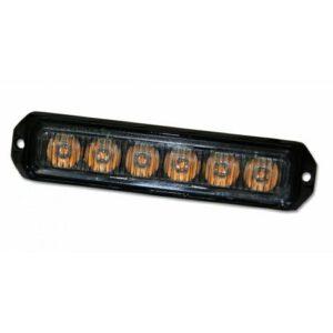 Lampa błyskowa stroboskopowa  6-LED pomarańczowa